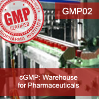 Certification Training cGMP: Warehouse (Pharmaceuticals)