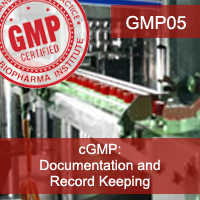 Certification Training cGMP: Documentation and Record Keeping