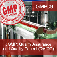 Certification Training cGMP: Quality Assurance and Quality Control